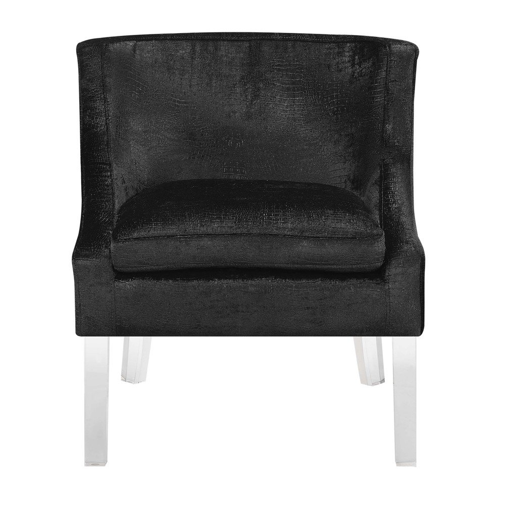 Tristan Alligator Fabric Accent Chair Black - Picket House Furnishings