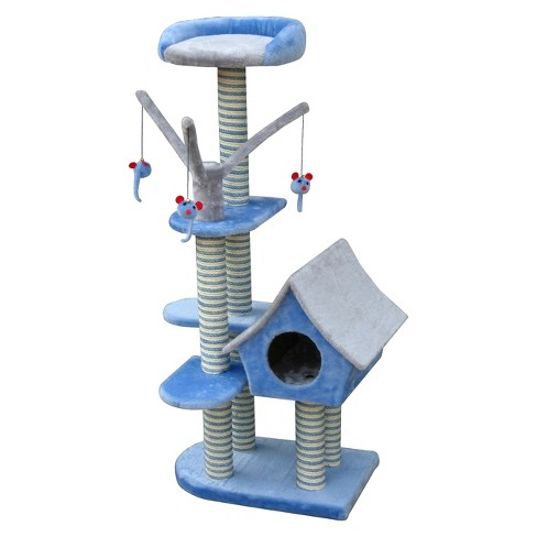 Cat-Life™ Deluxe Cat Cottage w/Lounging Tower from Penn-Plax - image 1 of 1