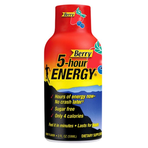 5-Hour Energy Dietary Supplement Shot - Berry - 1.93 Fl Oz ...