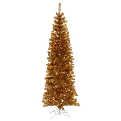 Vickerman Antique Gold Pencil Artificial Christmas  Tabletop Tree