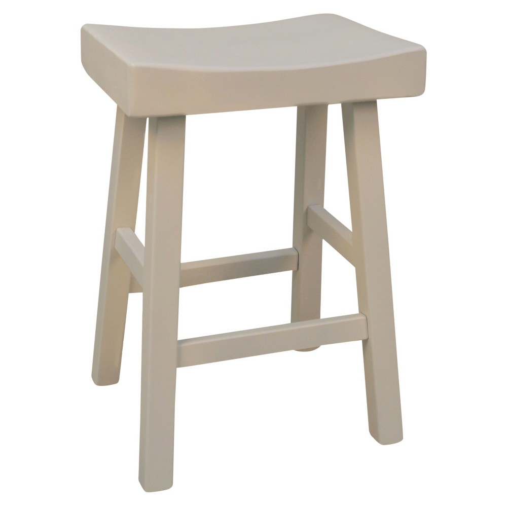"Image of ""24"""" Levi Counter Stool - White - Carolina Chair and Table, Antique White"""