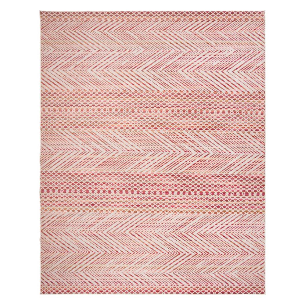 9'X12' Geometric Loomed Area Rug Pink - Safavieh