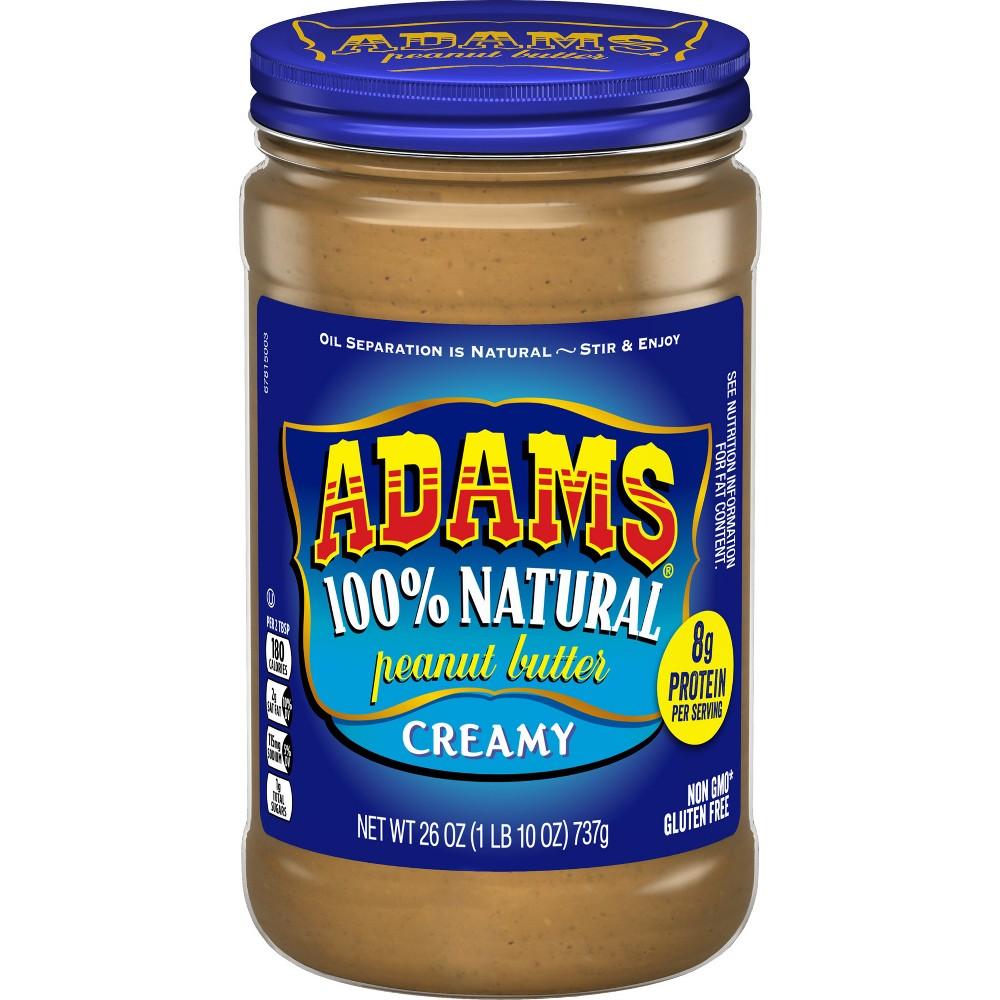 Image of Adams Peanut Butter 100% Natural Creamy Peanut Butter - 26oz