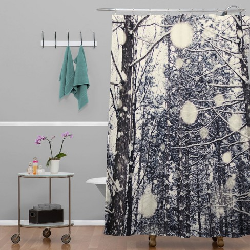 Into The Woods Shower Curtain Gray