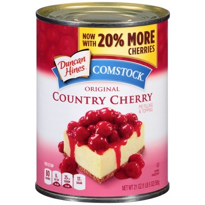 Comstock Original Red Ruby Cherry Pie Filling or Topping - 21oz