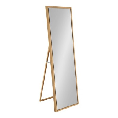 "18"" x 58"" Free Standing Floor Mirror with Easel Natural - Kate and Laurel"