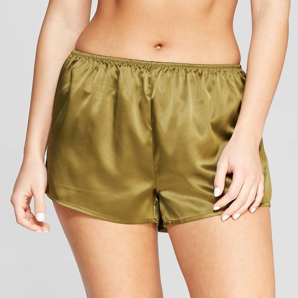 Women's Satin Pajama Shorts - Stars Above Green Xxl