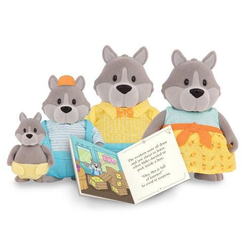 Li'l Woodzeez Miniature Animal Figurine Set - GrayPaws Wolf Family - image 1 of 3
