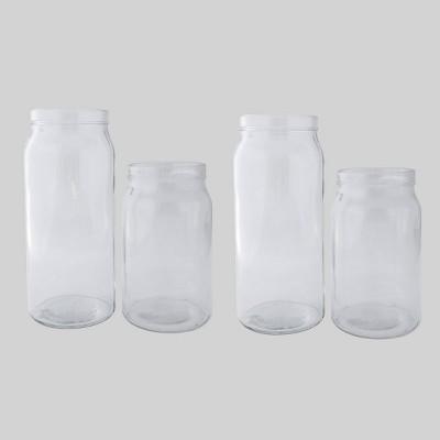 4pk Glass Vases Clear - Bullseye's Playground™