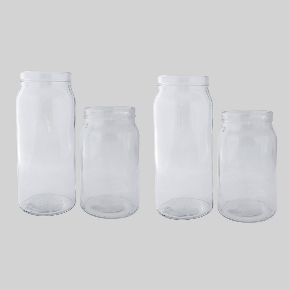 4pk Glass Vases Clear - Bullseye's Playground was $12.0 now $6.0 (50.0% off)