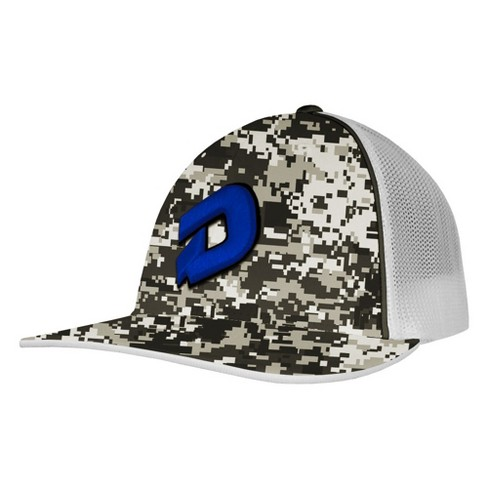 e5bcc025d96a3 DeMarini D Logo Camo Baseball Softball Trucker Hat - Snow Camo Royal ...