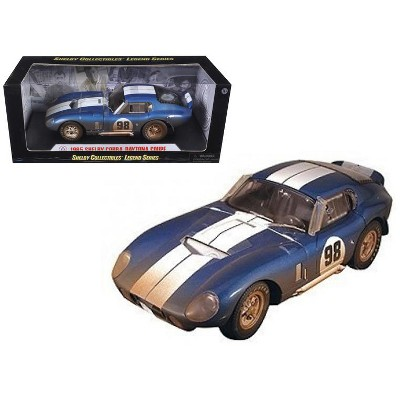 1965 Shelby Cobra Daytona #98 Blue with White Stripes After Race (Dirty Version) 1/18 Diecast Model Car by Shelby Collectibles
