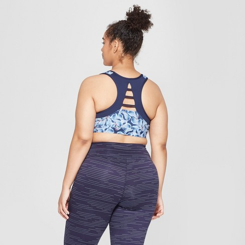 3f4f2ac90f Women s Floral Print Plus Size Strappy Back Sports...   Target