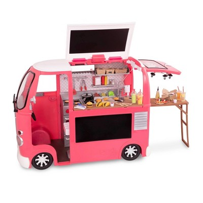 "Our Generation Grill to Go Food Truck Playset with Electronics for 18"" Dolls - Pink"