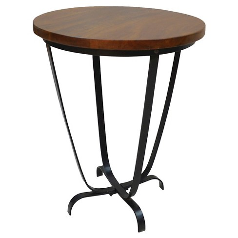 Millie Accent Table Chestnut/Black - Carolina Forge - image 1 of 2