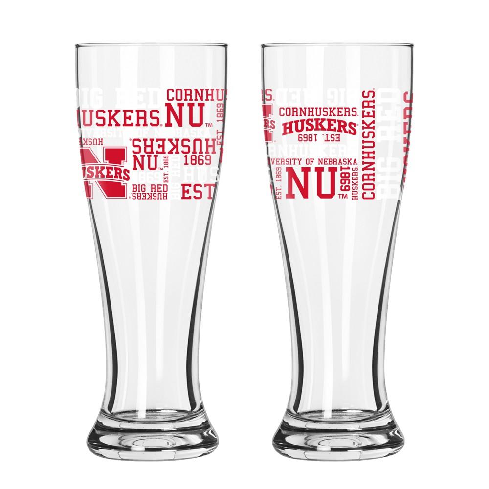 Nebraska Cornhuskers 2pk Spirit Pilsner Glasses