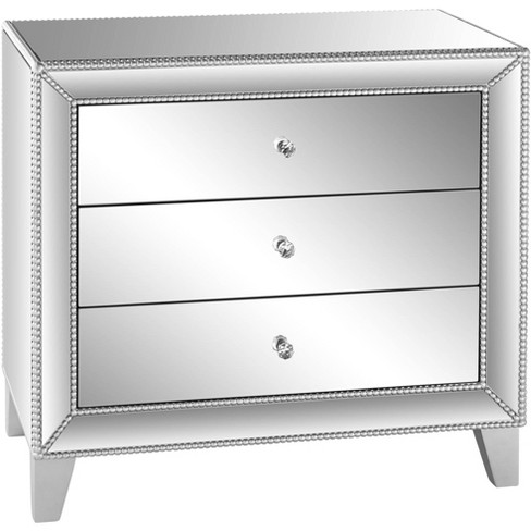 Studio 55d Liza 30 Wide Mirrored 3 Drawer Accent Table Target