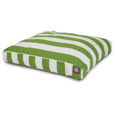 Majestic Pet Vertical Stripe Rectangle Dog Bed - Sage - Extra Large
