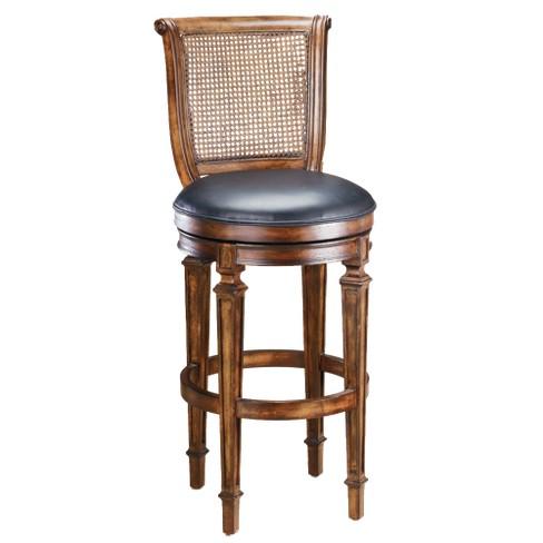 "Dalton Cane Backstool 24"" Counter Stool Hardwood/Cherry - Hillsdale Furniture - image 1 of 1"
