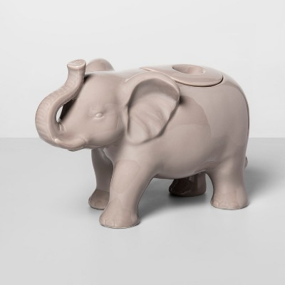 57.4oz Stoneware Elephant Cookie Jar Gray - Opalhouse™
