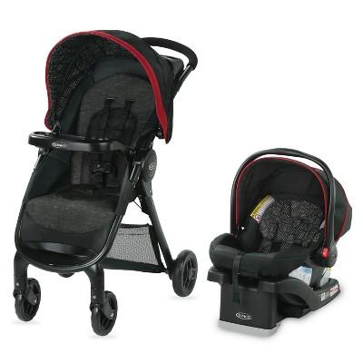Graco FastAction Fold SE Travel System with SnugRide Infant Car Seat - Hilt