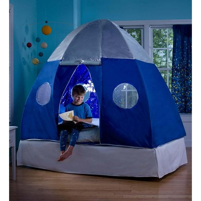 Merveilleux Galactic Spaceship Twin Bed Tent For Kids With Starburst Led Light    Hearthsong