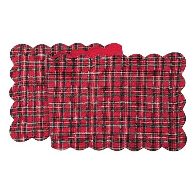 """C&F Home 14"""" x 51"""" Red Plaid Table Runner"""