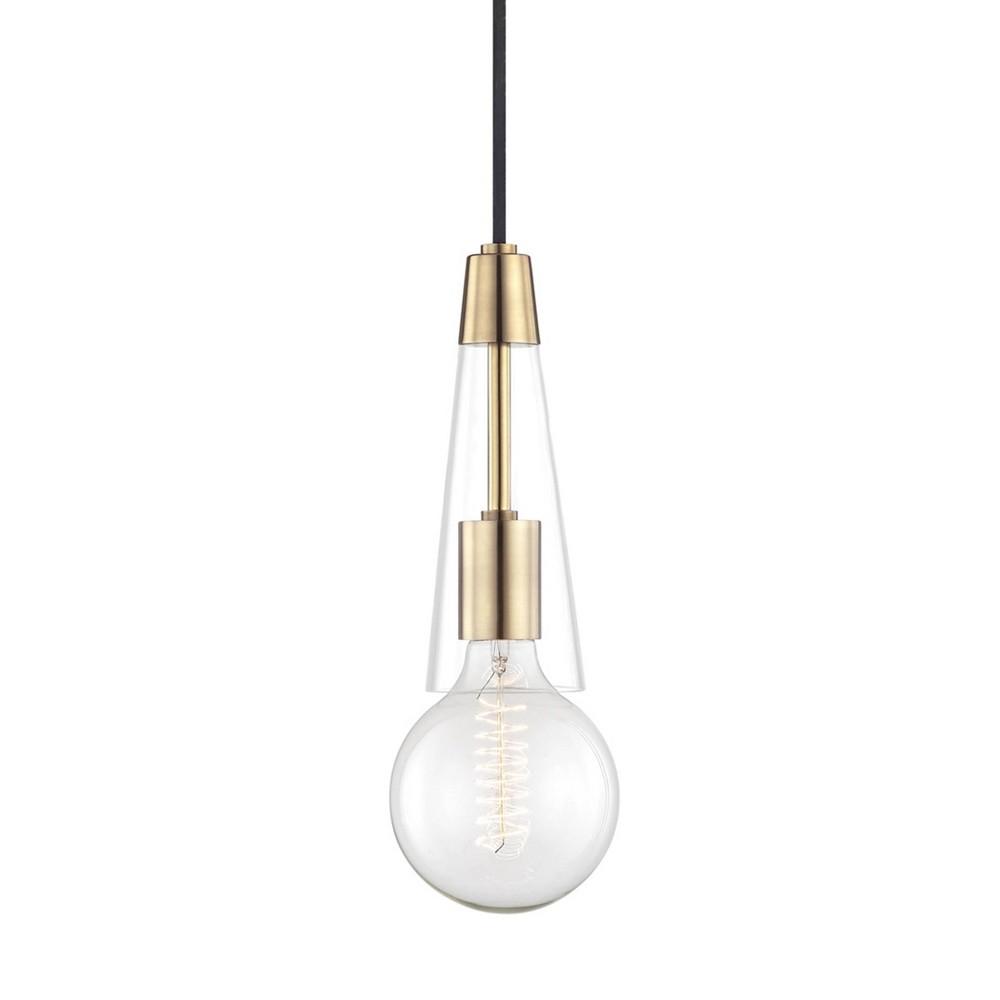Joni 1-Light Pendant Chandelier Aged Brass - Mitzi by Hudson Valley Cheap