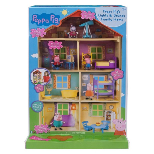 Peppa Pig Family Home Playset with Lights and Sounds image number null