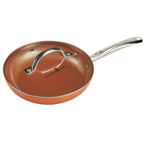 """As Seen on TV 12"""" Round Pan with Lid Copper - image 1 of 3"""