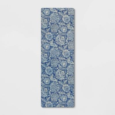 60 x20  Floral Comfort Rug Runner Blue - Threshold™