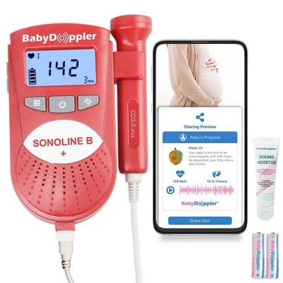Baby Doppler Sonoline B+ Fetal Doppler - Red