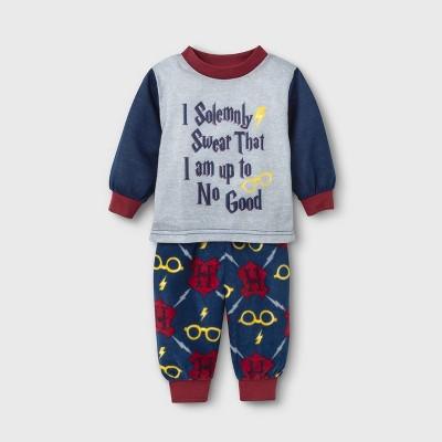 "Baby Harry Potter Holiday ""I Solemnly Swear"" Pajama Set - Navy 3-6M"