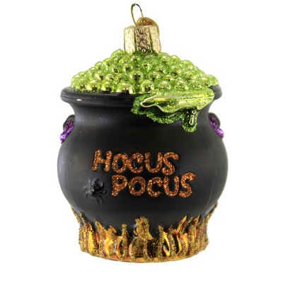 """Old World Christmas 3.75"""" Halloween Cauldron Ornament Witches Brew  -  Tree Ornaments"""