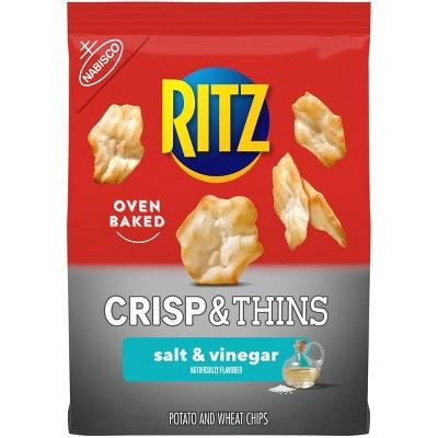 Ritz Crisp & Thins Salt & Vinegar Chips - 7.1oz