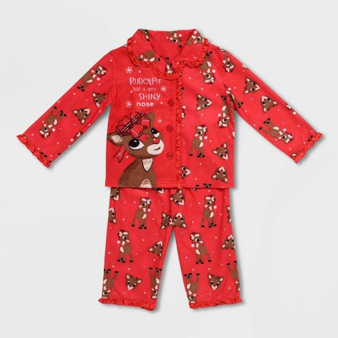 Rudolph the Red-Nosed Reindeer Boys 1-Piece Footed Pajamas