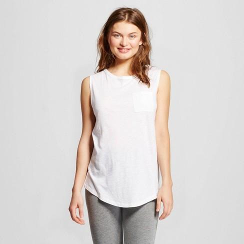 Women's Sporty Sleep Tank Fresh White M - Xhilaration™ - image 1 of 1