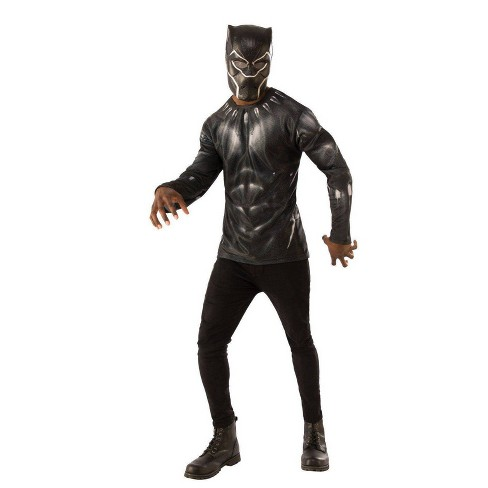Adult Avengers Black Panther Halloween Costume Top XL - image 1 of 1