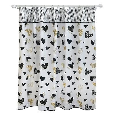 Heart Shower Curtain Blackberry Frost - Pillowfort™