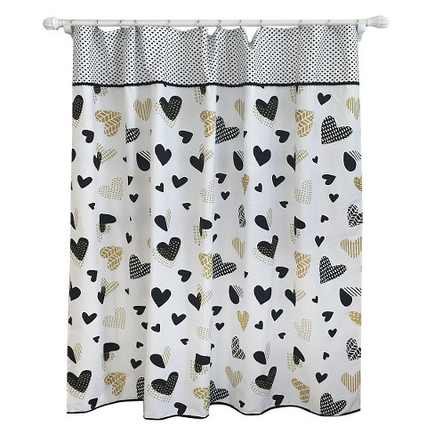 Heart Shower Curtain Blackberry Frost - Pillowfort™ - image 1 of 2
