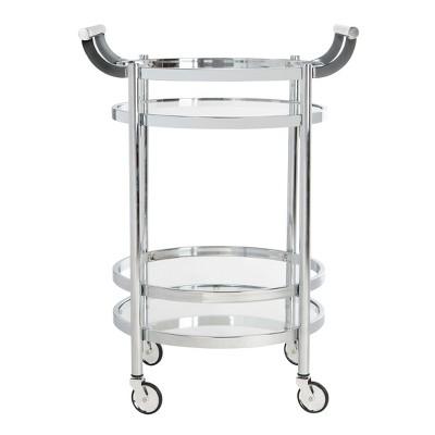 Sienna 2 Tier Round Bar Cart - Safavieh