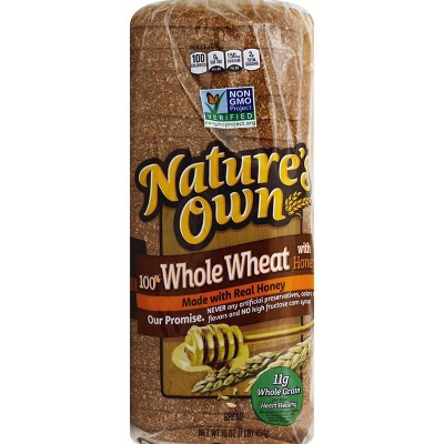 Nature's Own 100% Whole Wheat Bread with Honey - 16oz