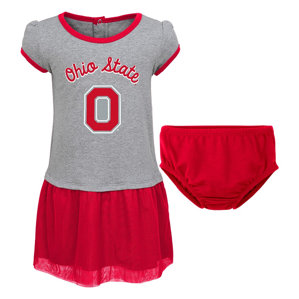 Ohio State Buckeyes Her Team Gray/ Dress Set 3 T, Size: 3T, Multicolored