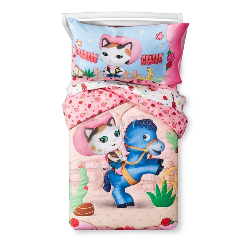 4pc Toddler Sheriff Callie's Wild West Pink Bedding Set - image 1 of 4