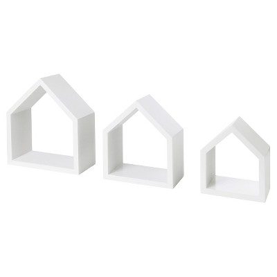3pc Dolle Lodge Set Floating Wall Shelves - White