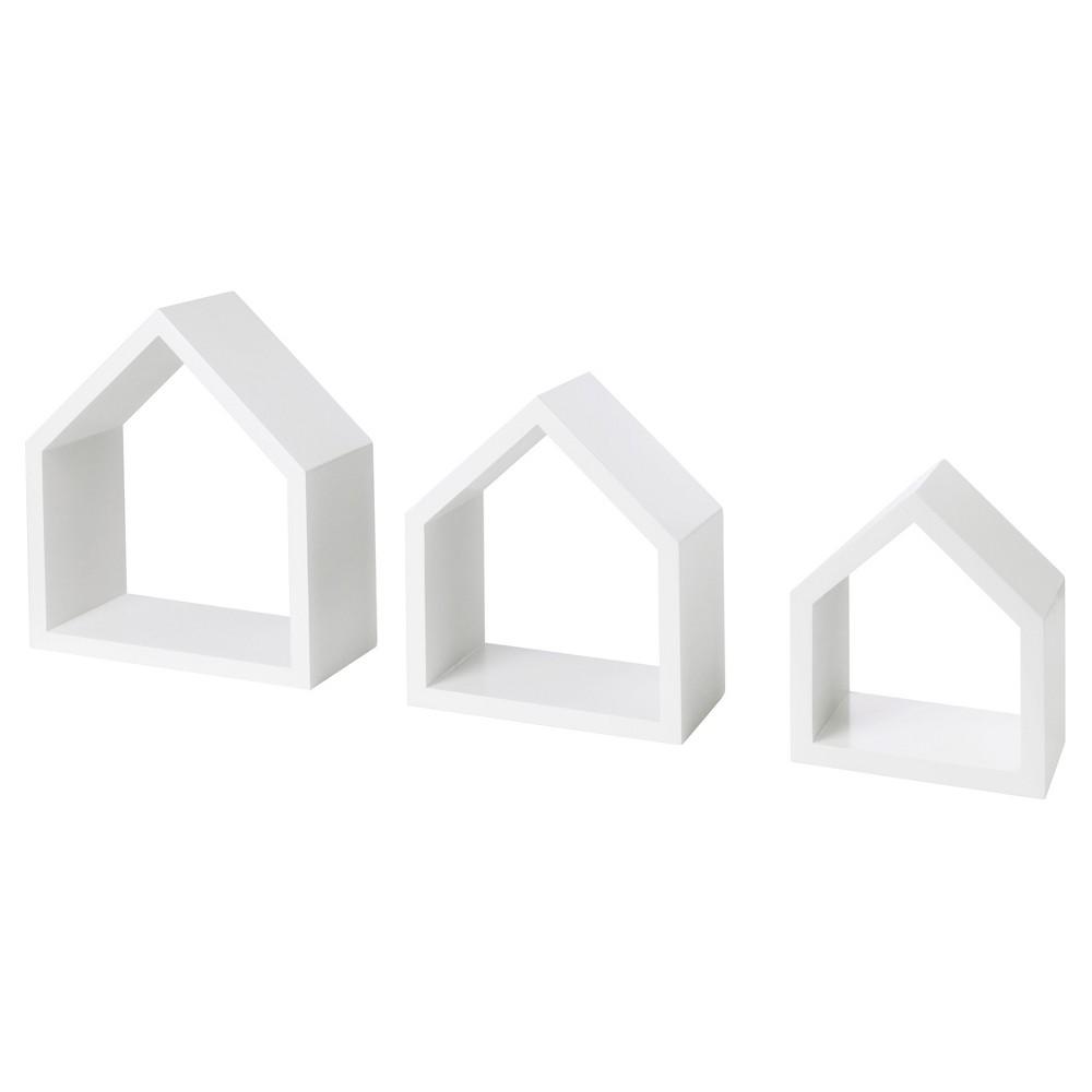 Image of Dolle Lodge Set Floating Wall Shelves - 3 Piece Set - White