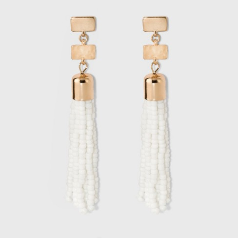 SUGARFIX by BaubleBar Beaded Tassel Drop Earrings - image 1 of 3