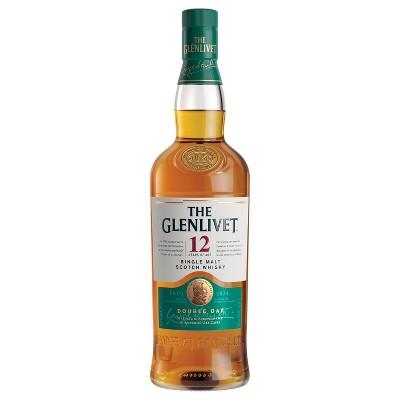 The Glenlivet 12yr Single Malt Scotch Whisky - 750ml Bottle