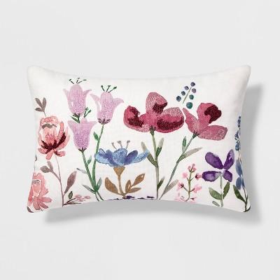 Floral Lumbar Throw Pillow - Threshold™