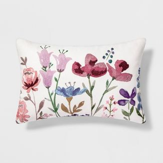 Floral Lumbar Throw Pillow - Threshold™